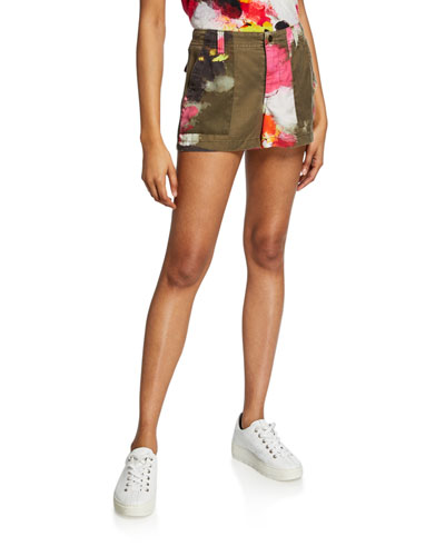 Floral Cargo Shorts