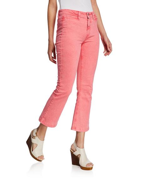 Paige Jeans COLETTE HIGH-RISE FLARE JEANS W/ FAUX WELT POCKETS