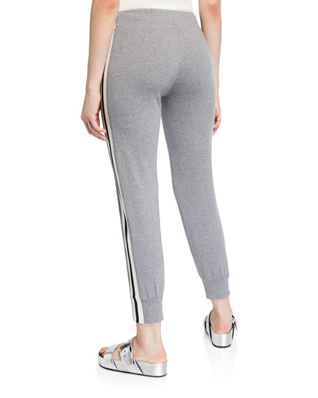 Norma Kamali Side-Stripe Sporty Jogger Pants