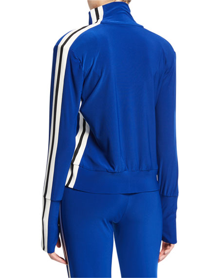 Norma Kamali Side-Stripe Turtle Track Jacket