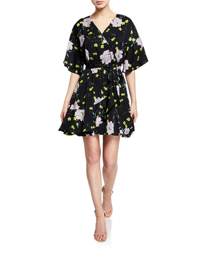 Locke Floral-Print Wrap Dress