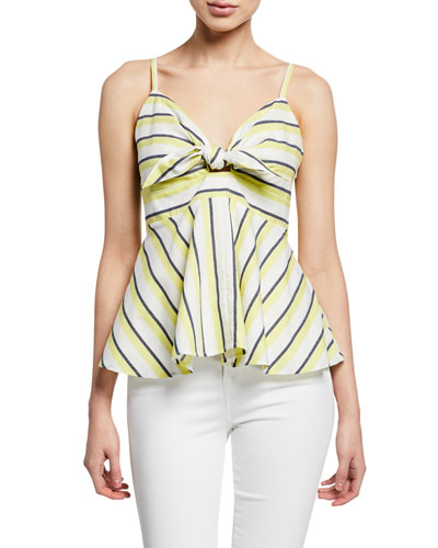 Kerria Striped Peplum Tank