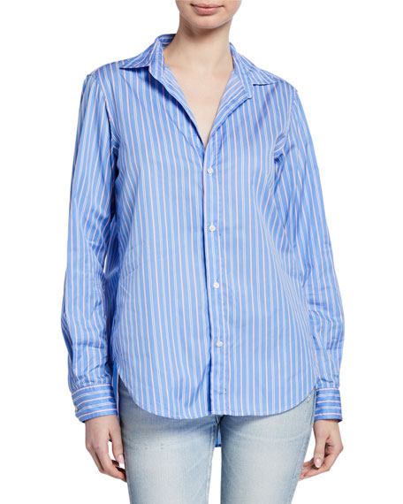 Frank & Eileen Striped Long-Sleeve Button-Down Shirt