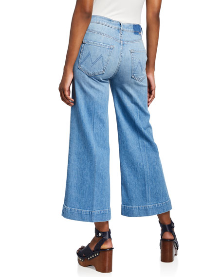 MOTHER The Swooner Roller Yoke-Front Crop Jeans