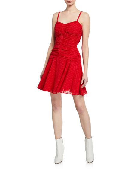 Jill Jill Stuart Dresses SWEETHEART EYELET RUCHED MINI DRESS