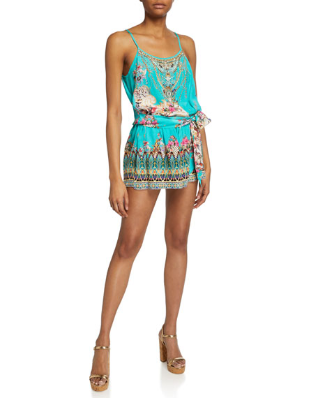 Camilla Jewelry SHOESTRING STRAP PRINTED ROMPER