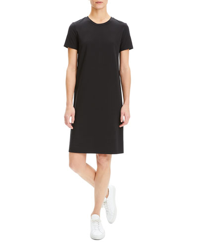 Continuous Rubric Stretch-Knit Short-Sleeve Tee Dress