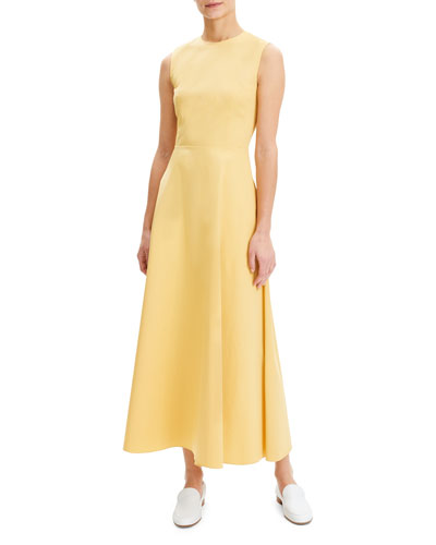 Long Fit-and-Flare Dress