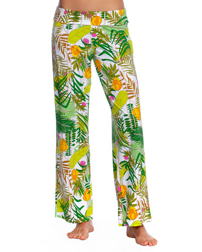 It's Bananas Roll-Top Coverup Pants
