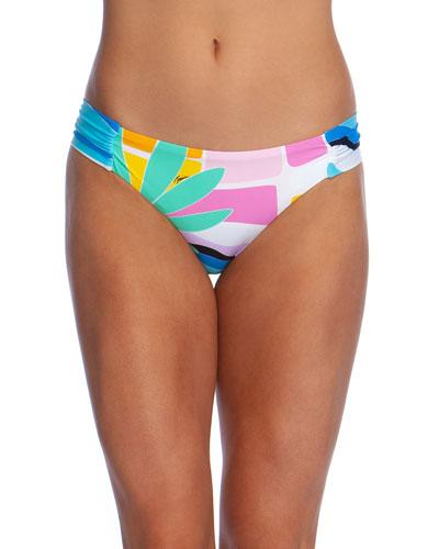 Mosaic Sunrise Shirred Hipster Bikini Bottom