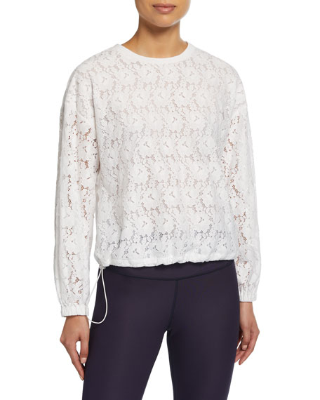 kate spade new york textured lace pullover