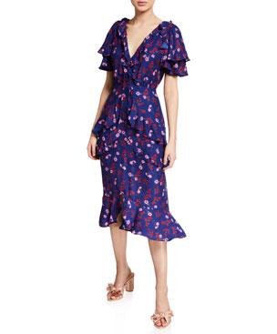 6ffd999f5a1 La Maison Talulah The Yearning Floral-Print Ruffle Midi Dress