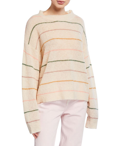 The Great Sweaters THE PULL OVER STRIPED SWEATER