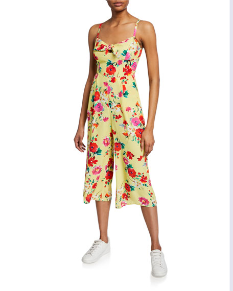 Image 1 of 2: Yumi Kim Pretty Chic Cropped Floral Jumpsuit