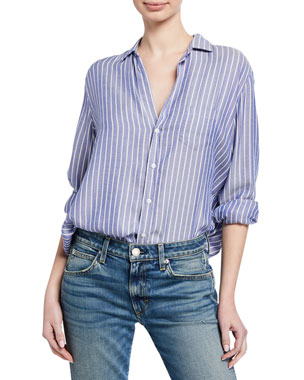 05b92364 Frank & Eileen Striped Long-Sleeve Button-Down Shirt