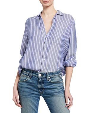 ef1b7039 Frank & Eileen Striped Long-Sleeve Button-Down Shirt