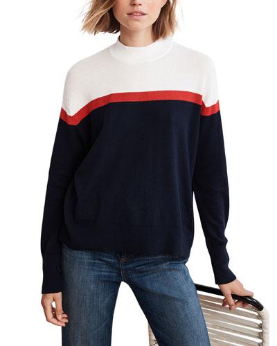 Coretta Cotton-Cashmere Mock-Neck Sweater