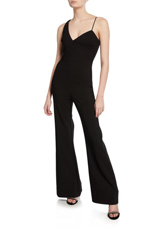 Likely Kendra Asymmetrical Wide-Leg Jumpsuit