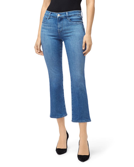 J Brand Jeans SELENA MID-RISE CROP BOOT-CUT JEANS