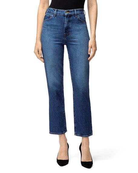 J Brand Jeans JULES HIGH-RISE STRAIGHT-LEG JEANS
