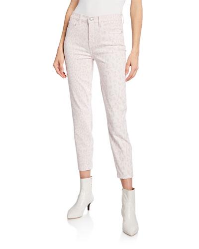 The High Waist Stiletto Leopard-Print Jeans