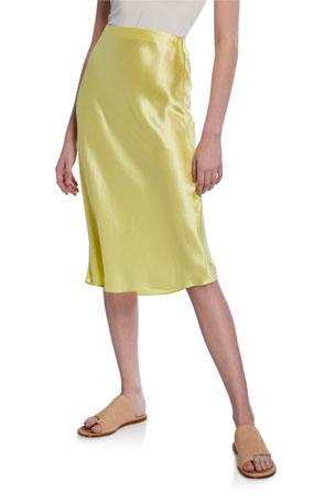 Vince Midi Satin Slip Skirt