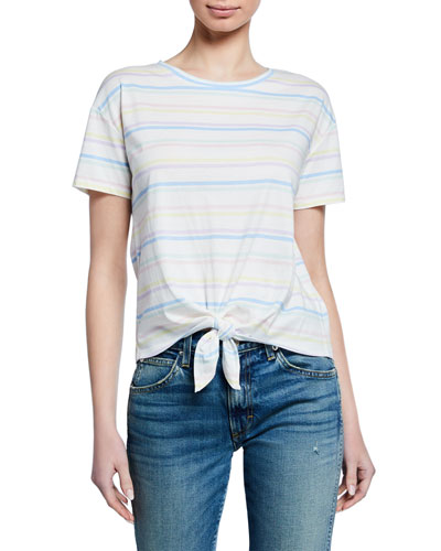 Hannah Rainbow Striped Top