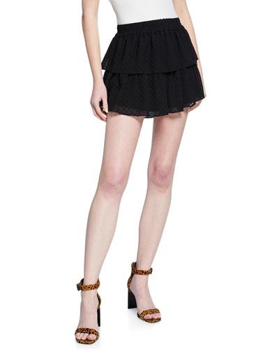 Sophia Swiss Dot Mini Skirt