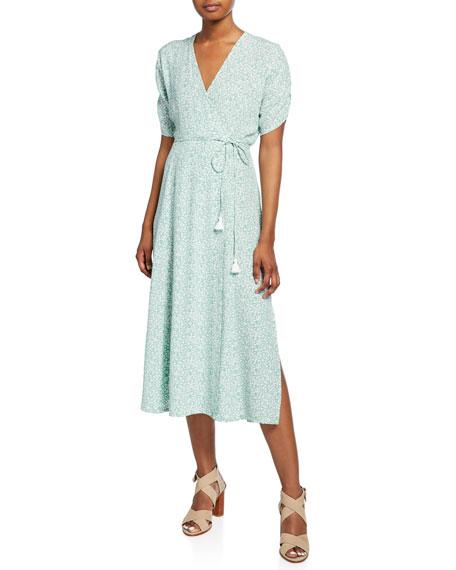 Faithfull the Brand Chiara Short-Sleeve Floral Midi Dress
