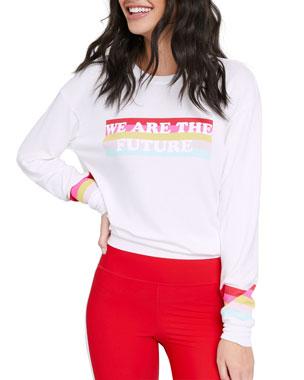 a2df58a73bc Spiritual Gangster Savasana We Are The Future Crewneck Sweatshirt