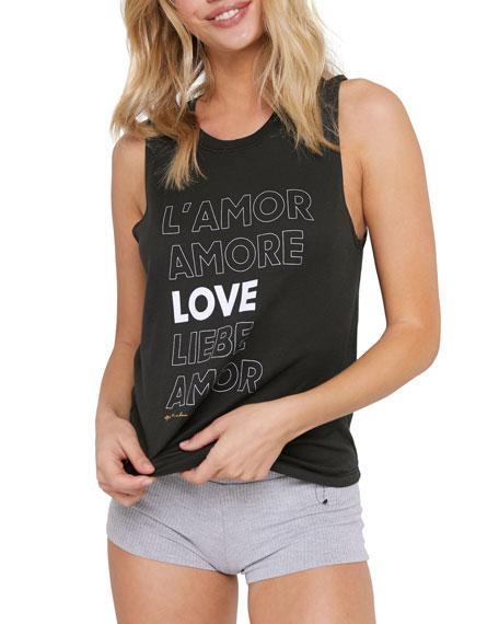 Spiritual Gangster Amore Slogan Muscle Tank