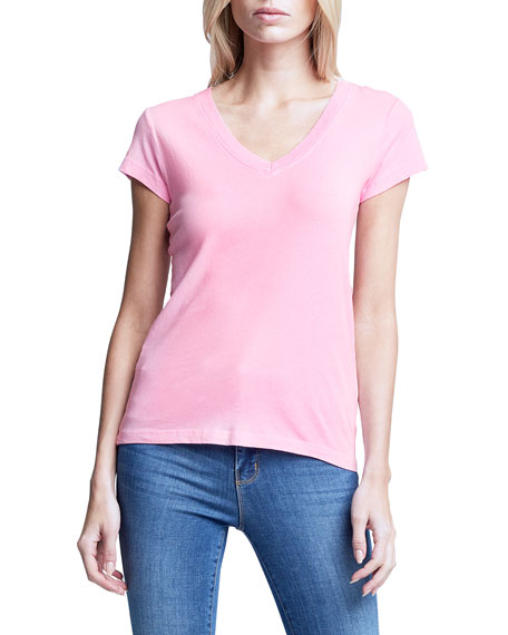 Image 3 of 3: L'Agence Becca V-Neck Short-Sleeve Tee