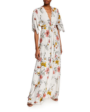 78e1087720ec9 Rachel Pally Plus Size Wildflower V-Neck Short-Sleeve Caftan Dress