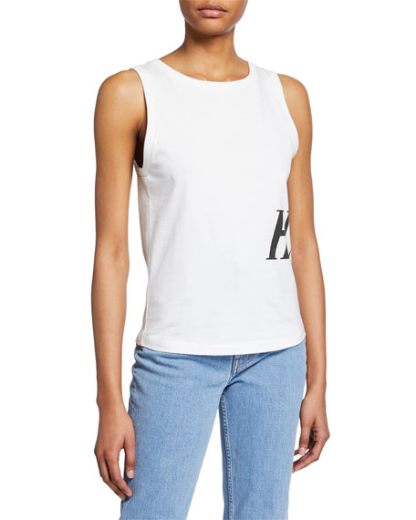 Helmut Lang Tops FEMME SIDE-GRAPHIC MUSCLE TANK