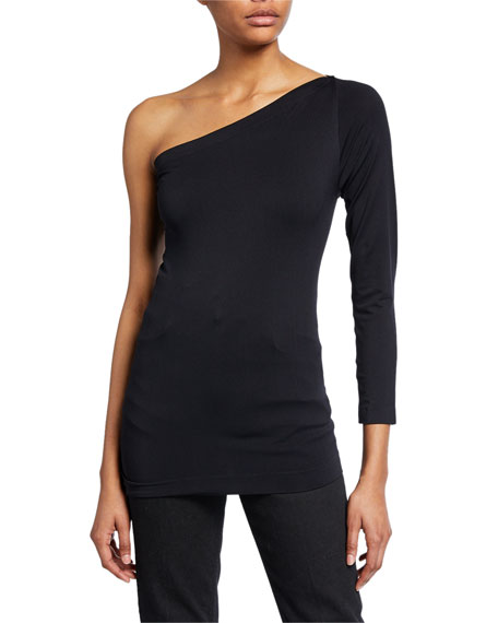 Helmut Lang Tops ONE-SHOULDER 3/4-SLEEVE TOP
