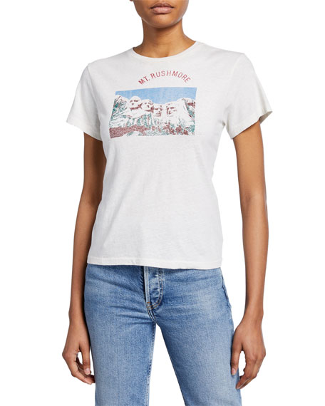 Re/done Tops MT. RUSHMORE CLASSIC TEE