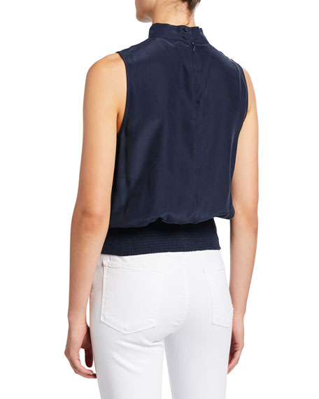 Image 2 of 2: FRAME Sleeveless High-Neck Party Top