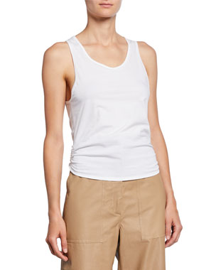 a2472c3900e0c A.L.C. Calven Scoop-Neck Tie-Back Sleeveless Tee
