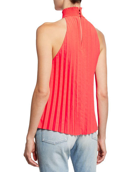 Image 2 of 2: A.L.C. Imani High-Neck Pleated Top