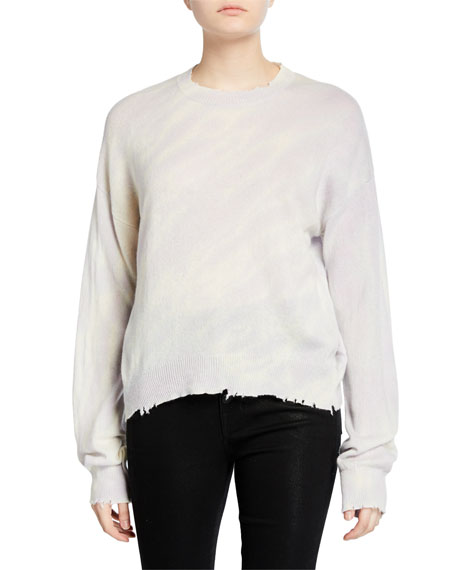RtA Emma Distressed Cashmere Pullover Sweater