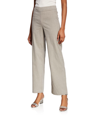 Plus Size Traveling Wide-Leg Pull-On Pants