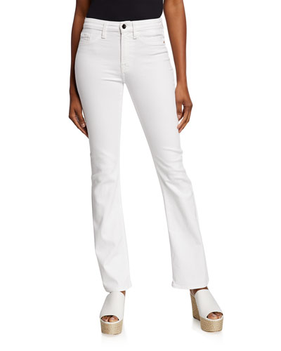 Stretch Slim Boot-Cut Jeans