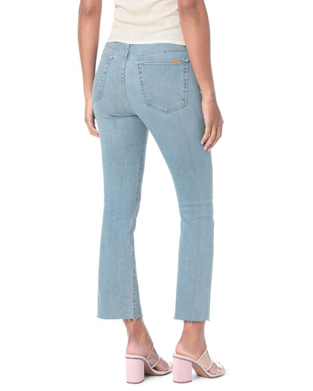 Joe's Jeans Honey High-Rise Cropped Boot Cut Raw-Edge Jeans