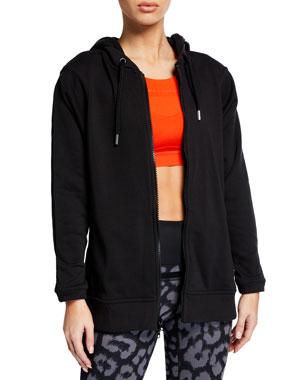 38cd72db48a4 adidas by Stella McCartney Essential Long-Sleeve Hoodie Jacket