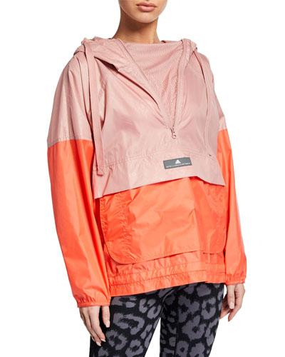 Colorblock Mesh Hoodie Wind Jacket