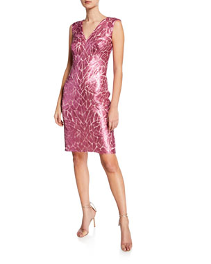 eeada00ad4b Tadashi Shoji Sequin V-Neck Sleeveless Cocktail Dress