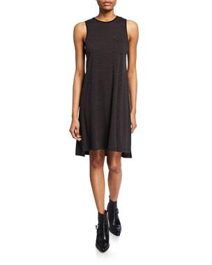 8f71cd000f ATM Anthony Thomas Melillo Striped Jersey Dress