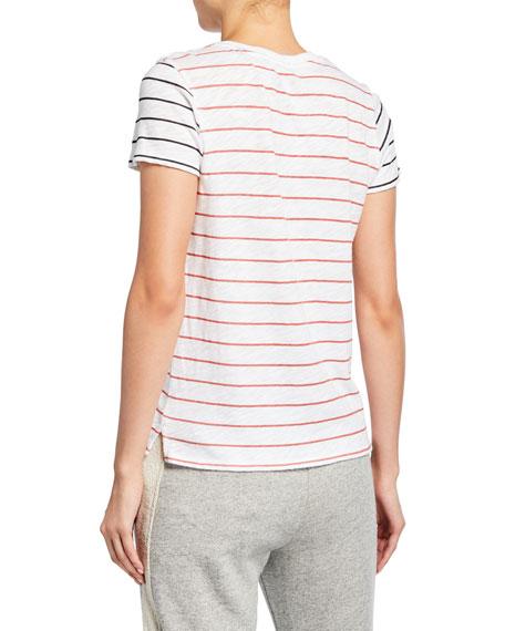 ATM Anthony Thomas Melillo Striped Slub Jersey Short-Sleeve Cotton Tee