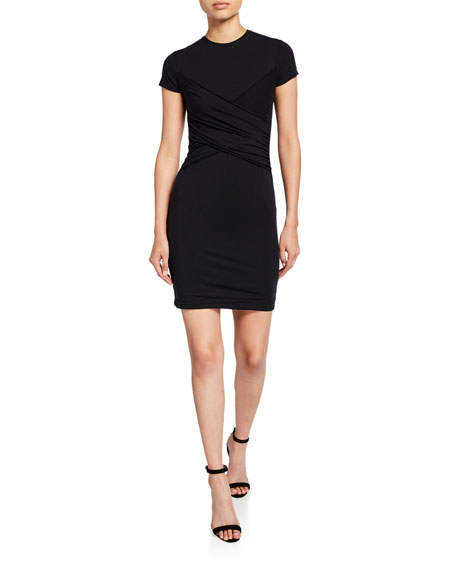 ATM Anthony Thomas Melillo Crewneck Short-Sleeve Body-Conscious Dress