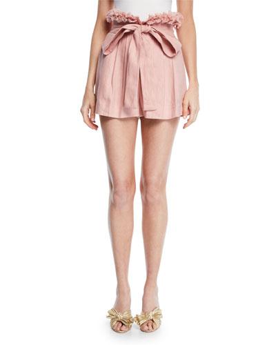 Jolan Pleated Linen Shorts